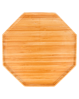 octogonal tray 28x28x1,7 cm bamboo (1 unit)