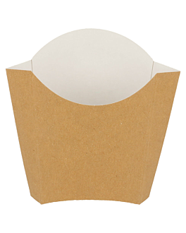 chip boxes - standard 135 g 300 gsm 13x8x13,5 cm brown cardboard (1200 unit)