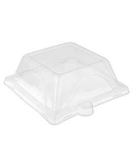 lids for item 215.90 'bionic' 16,4x16,4x4 cm clear pet (500 unit)