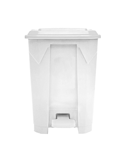 container with lid 50 l 43x40x60 cm white pp (1 unit)