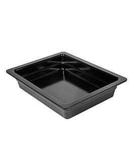 gn pans 1/2 6,5 (h) cm black melamine (6 unit)