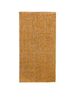 ecolabel napkins f. 1/8 'double point - arpillera' 18 gsm 40x40 cm brown recycled tissu (1200 unit)