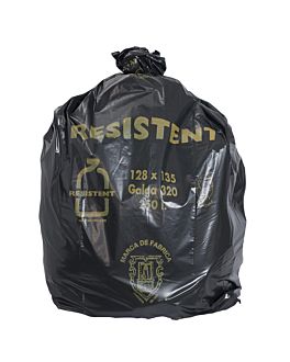 10 u. garbage bags 250 l 80µ 128x135 cm black peld (5 unit)