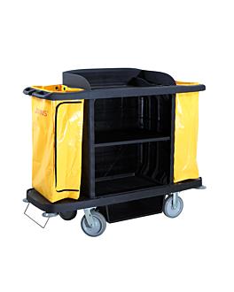 chariot service de chambres, sans portes 153,6x55,4x125,2 cm noir pp (1 unitÉ)