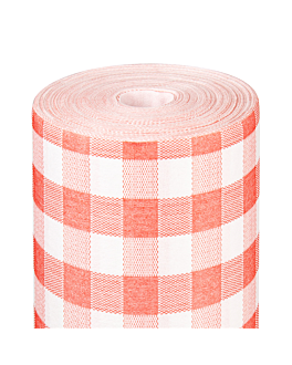 tablecloth 'like linen - vichy' 70 gsm 1,20x25 m red spunlace (1 unit)