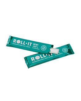 toallitas flushable 'roll-it - citron' 50 g/m2 14,5x4 cm blanco celulosa (1280 unid.)