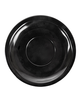 coffee saucers Ø 13,8 cm black melamine (12 unit)
