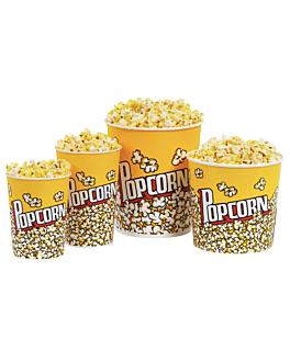 gobelets pour pop-corn 5100 ml 230 +20 pe g/m2 Ø 22,5x21 cm carton (150 unitÉ)