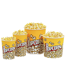 contenitori per popcorn 5100 ml 230 +20 pe g/m2 Ø 22,5x21 cm cartone (150 unitÀ)