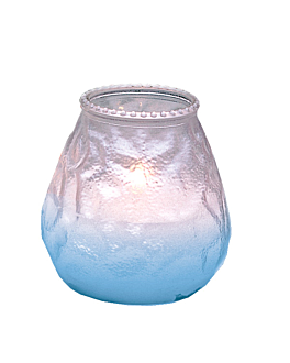 candles in glass pearly 'monarch' 9,5x9,5 cm white paraffin (24 unit)