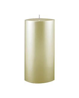bougie cylindrique 7,5x15 cm creme paraffine (1 unitÉ)