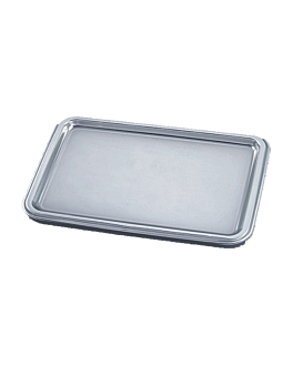 de luxe trays 'lunch' 25x35 cm silver pet (10 unit)