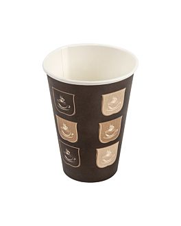 single wall hot drink cups 210 ml 210 + 18 pe gsm Ø7/4,5x9,5 cm brown cardboard (1000 unit)