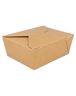 rectangular micro. boxes 1350 ml 300 gsm + 12 pp 15,3x12,1x6,4 cm brown cardboard (50 unit)