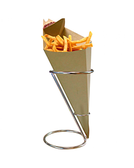 porta fritti, conico Ø 11,5x18 cm argento acciaio inox (1 unitÀ)