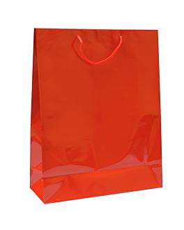 bolsas boutique, asa cordÓn 150 g/m2 40+15x50 cm rojo kraft (100 unid.)