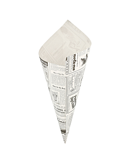 paper cones 'times' 400 g 70 gsm 34x24 cm white greaseproof parch. (1000 unit)