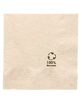 ecolabel napkins 2 plies 18 gsm 25x25 cm natural recycled tissu (4800 unit)