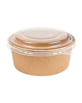 combo salad pots+lids 750 ml Ø15/12,8x5 cm natural kraft (200 unit)