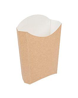 cajetillas fritas jumbo 'thepack' 165 g 220 g/m2 13,5x8,5x16 cm natural cartÓn ondulado nano-micro (1200 unid.)