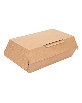 """scatole """"lunch box"""" 'thepack' 220 g/m2 19,5x11,5x6,5 cm naturale cartone ondulato a nano-micro (300 unitÀ)"""