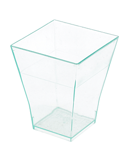mises en bouche 'bouquet' 4,5x4,5x5,5 cm vert d'eau ps (576 unitÉ)
