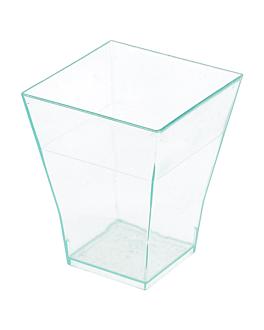 recipiente para aperitivos 'bouquet' 4,5x4,5x5,5 cm verde Água ps (576 unidade)