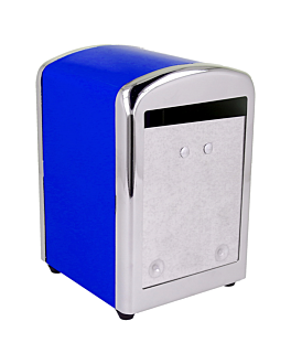 dispensador servilletas mini servis 10,5x9,7x14 cm azul inox (12 unid.)