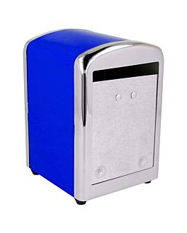 dispensador tovallons mini servis 10,5x9,7x14 cm blau inox (12 unitat)