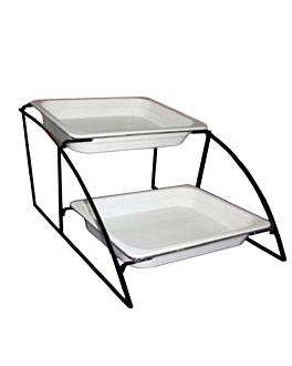 stand 2 levels gn pans 1/2 36 cm black iron (1 unit)