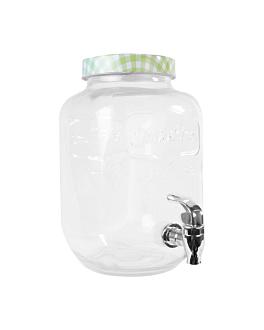 distributeur de boissons 4 l Ø 15,5x25 cm transparent verre (1 unitÉ)