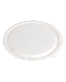 flat lids for item 224.33 'bionic' Ø 18x0,7 cm white bagasse (600 unit)