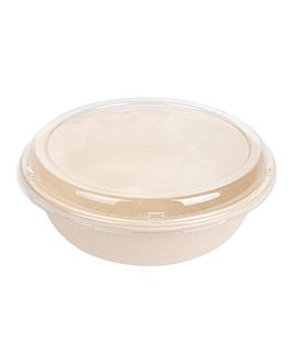 combo insalatiera+copperchio 'bionic' 950 ml Ø 19x7,8 cm naturale bagassa (200 unitÀ)