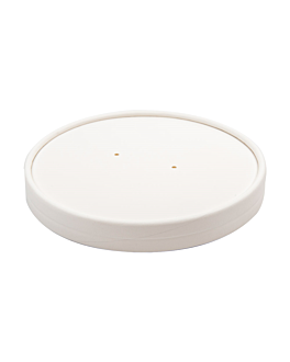 lids for tubs 228.34 780 ml 560 gsm + pe Ø15 cm white cardboard (250 unit)