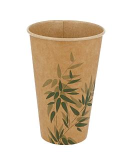 cups 'feel green' 12 oz - 360 ml 250 + 25pe gsm Ø8x12 cm brown cardboard (2000 unit)