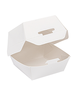 mini conchas hamburguesa 250 g/m2 5,3x5,7x5 cm blanco cartoncillo (500 unid.)