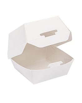mini burger boxes 250 gsm 5,3x5,7x5 cm white cardboard (500 unit)