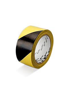 ruban de signalisation 33 m x 5 cm jaune/noir vinyl (1 unitÉ)