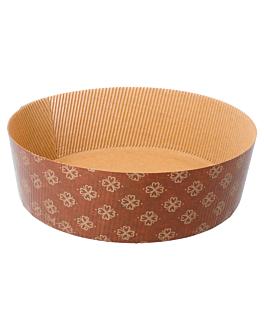shallow panettone cooking moulds Ø 18,5x6 cm brown paper (390 unit)
