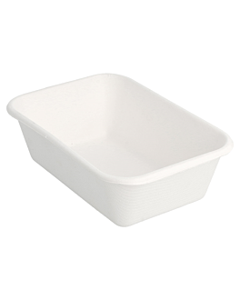 containers 'bionic' 370 ml 13,5x9,6x4,2 cm white bagasse (600 unit)