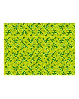 """manteles """"garden"""" 48 g/m2 100x100 cm verde celulosa (250 unid.)"""
