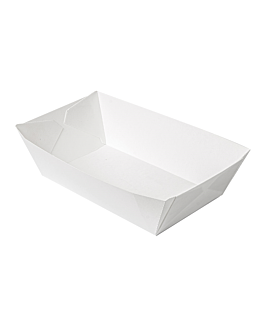 containers 'thepack' 2400 g 230 gsm 17x9,7x6,3 cm white nano-micro corrugated cardboard (600 unit)