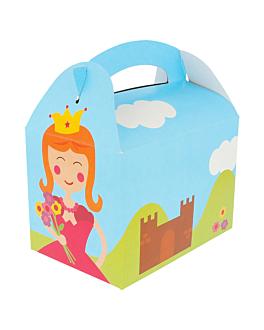 """party boxes """"castle"""" 320 gsm 17x16x10 cm four coloured cardboard (300 unit)"""