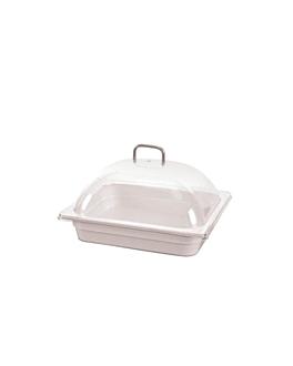 dome cover 1/2 gn 33x27x14,5 cm clear polycarbonate (1 unit)