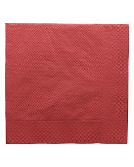 serviettes ecolabel 4 plis 'quattro' 21 g/m2 45x45 cm bordeaux ouate (750 unitÉ)