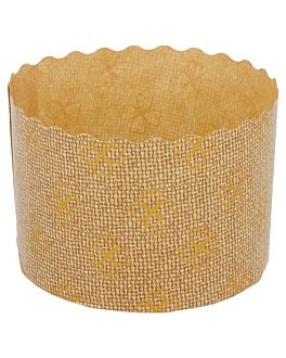 panettone cooking moulds Ø 7x5 cm brown cellulose (2000 unit)