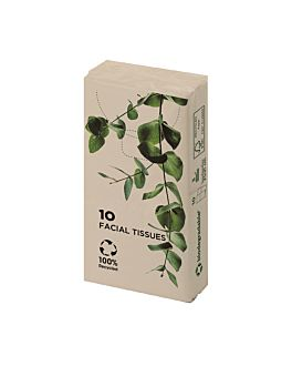 10 u. x 10 u. paper tissues 3 ply 21x21 cm natural kraft (1 unit)