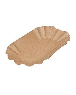 oval trays 19,5x11x3,2 cm natural kraft (1000 unit)
