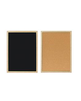cartelera reversible 45x60 cm negro (1 unid.)