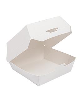 mini conchas hamburguesa 250 g/m2 7,3x7,7x5 cm blanco cartoncillo (500 unid.)